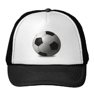 SOCCER BALL VECTOR ICON GRAPHICS BLACK WHITE SPORT HAT
