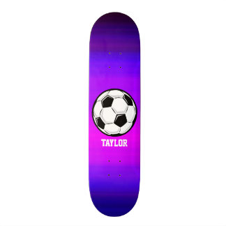 Soccer Ball; Vibrant Violet Blue and Magenta 18.1 Cm Old School Skateboard Deck