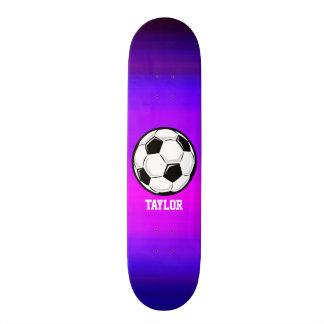 Soccer Ball; Vibrant Violet Blue and Magenta 18.1 Cm Old School Skateboard Deck