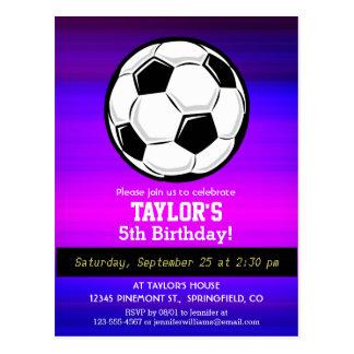 Soccer Ball; Vibrant Violet Blue and Magenta Postcard