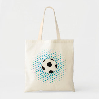 Soccer Ball with blue colours Tote Bag