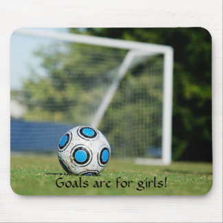 Soccer Ball with Goal Mouse Pad