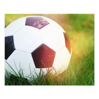 Soccer Ball with Lens Flare Photo
