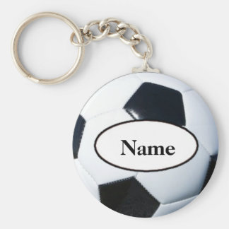 Soccer ball with your nasty on it basic round button key ring