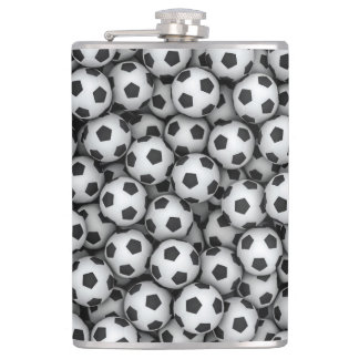 Soccer Balls 8 oz Vinyl Wrapped Flask