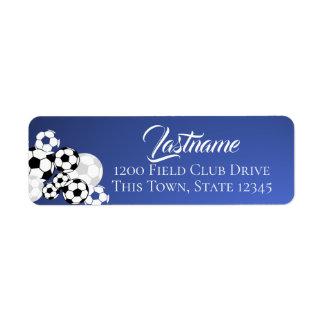 Soccer Balls Blue and White Address