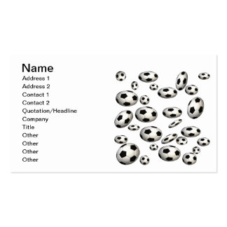 Soccer Balls Double-Sided Standard Business Cards (Pack Of 100)