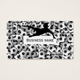 Soccer balls business card