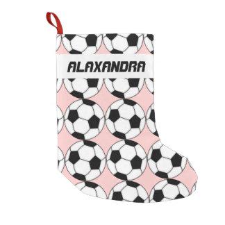 Soccer Balls Christmas Stocking
