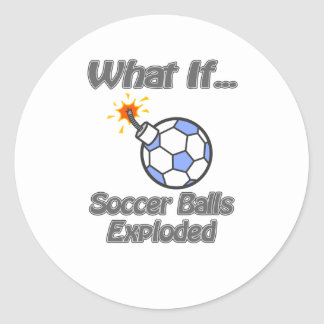 Soccer balls exploded stickers