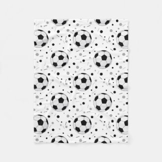 Soccer balls fleece blanket