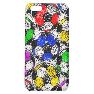 SOCCER BALLS IN CHAOTIC COLOR COVER FOR iPhone 5C