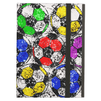 SOCCER BALLS IN CHAOTIC COLOR iPad AIR COVERS