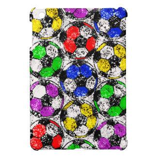 SOCCER BALLS IN CHAOTIC COLOR iPad MINI COVERS