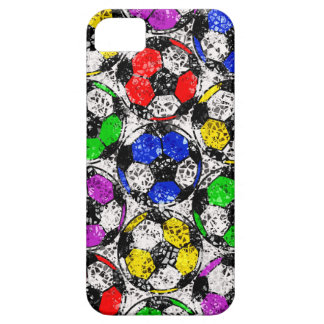 SOCCER BALLS IN CHAOTIC COLOR iPhone 5 COVER