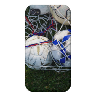 Soccer balls in net iPhone 4 cover