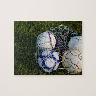 Soccer balls in net jigsaw puzzle