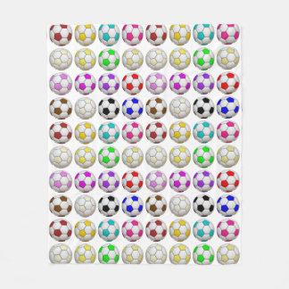 Soccer Balls Pattern Fleece Blanket