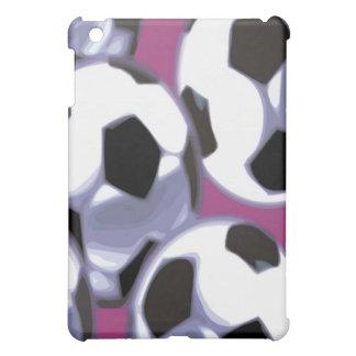 Soccer Balls purple background iPad Case
