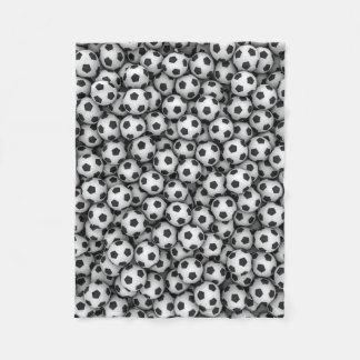 Soccer Balls Small Fleece Blanket