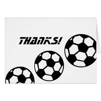 Soccer Balls Thanks! Note Card