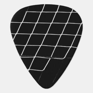 Soccer Basketball Net on Black Background Guitar Pick
