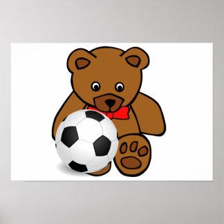 Soccer Bear Poster Poster