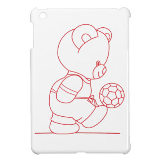 Soccer Bear Redwork Case For The iPad Mini