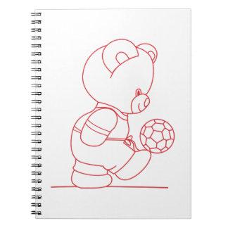 Soccer Bear Redwork Notebooks