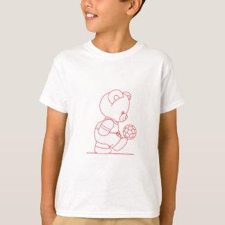 Soccer Bear Redwork T-Shirt