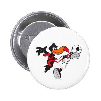 Soccer Bird 6 Cm Round Badge
