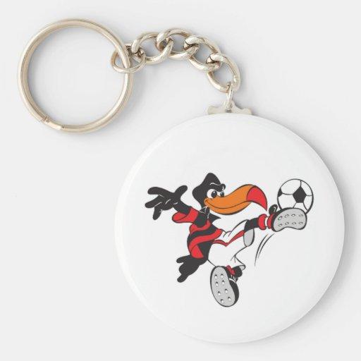 Soccer Bird Key Chain