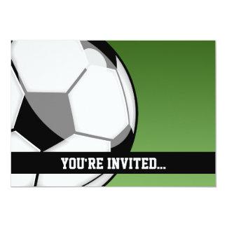 Soccer Birthday 13 Cm X 18 Cm Invitation Card