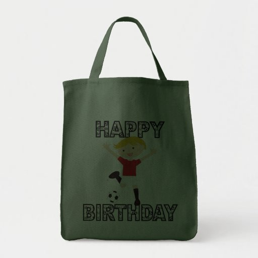 Soccer Birthday Boy 1 Red and White Bag