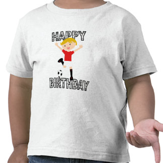 Soccer Birthday Boy 1 Red and White T Shirts