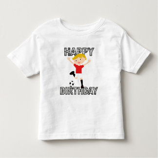 Soccer Birthday Boy 1 Red and White Tee Shirt
