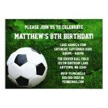 Soccer Birthday Party 13 Cm X 18 Cm Invitation Card