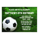 Soccer Birthday Party Card
