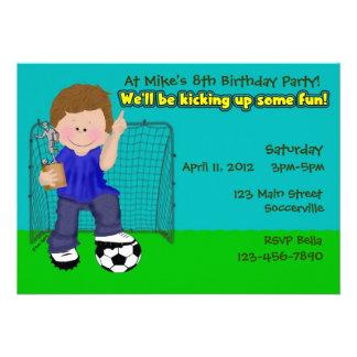 Soccer Birthday Party Custom Announcement