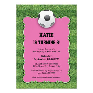 Soccer Birthday Party Invitation Personalized Invites