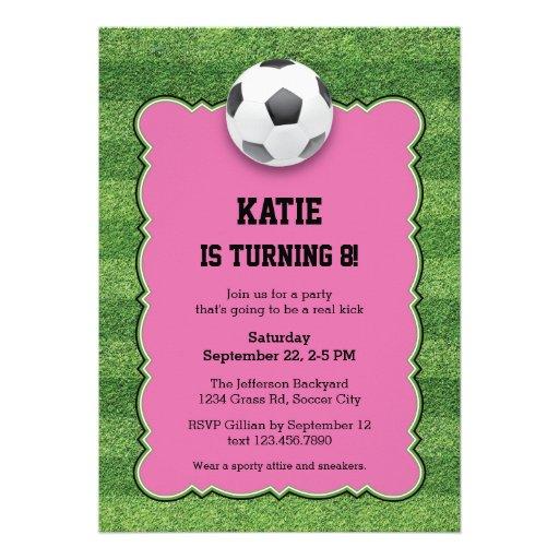 Soccer Birthday Party Invitation Personalized Invites