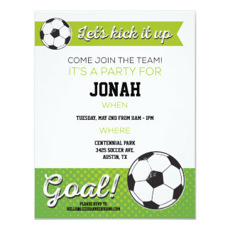 Soccer Birthday Party Invite 4.25x5.5 - Boy