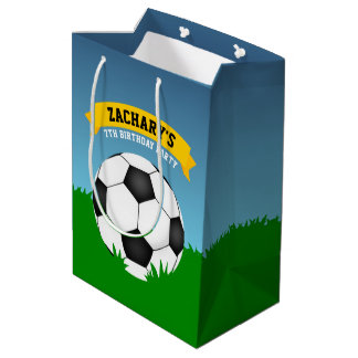 Soccer Birthday Party Medium Gift Bag