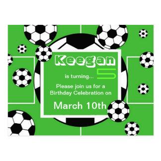 Soccer Birthday Postcard