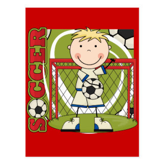 SOCCER - Blond Boy Goalie Tshirts and Gifts Postcard