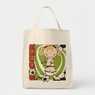SOCCER - Blond Girl T-shirts and Gifts Bags
