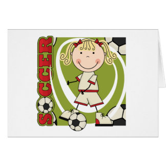 SOCCER - Blond Girl T-shirts and Gifts Cards