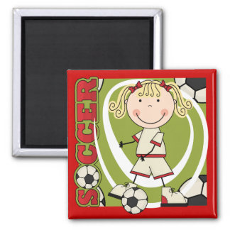 SOCCER - Blond Girl T-shirts and Gifts Refrigerator Magnet