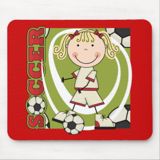 SOCCER - Blond Girl T-shirts and Gifts Mousepads