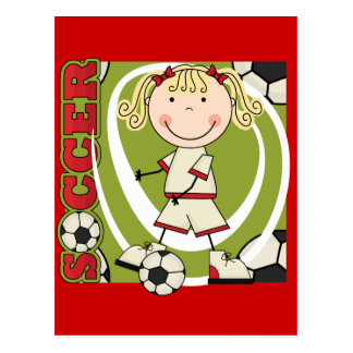 SOCCER - Blond Girl T-shirts and Gifts Postcard